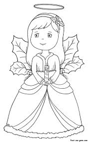 Small Picture Angel Coloring Page Cute Little Angel Coloring Page Free Printable