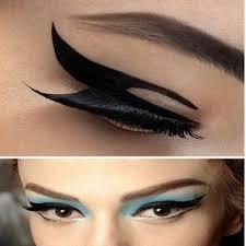 2pcs eyeliner stencil smokey cat eye models eyeshadow card makeup template tool