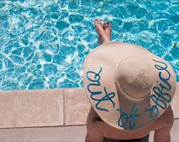 floppy office. out of office floppy hat derby pool bachelorette party