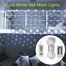 Battery Net Lights Smartd Led Mesh Net Lights White Color 200leds Battery Powered Outdoor Mesh Lights Waterproof Net Lights Christmas Waterproof Net Lights Perfect