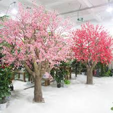 Fake Cherry Blossom Tree With Lights High Quality Silk Artificial Pink Peach Blossom Tree