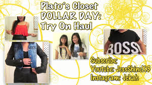 plato s closet dollar days try on haul 300 worth of clothes for 37