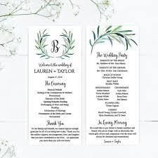Printable Wedding Programs Download Wedding Program Layout Design Wedding Program Thank You Ideas Wedding Program Downloadable Template