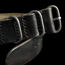 leather nato strap 3 ring military 107