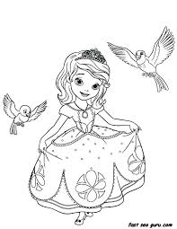 Belle Coloring Pages Free Princess Frozen Printable Princesses For
