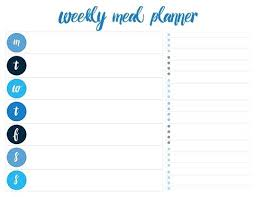 Horizontal Weekly Planner Template Weekly Dinner Meal Planner Template Energycorridor Co