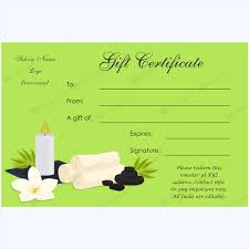 Gift Certificate Template Printable Gift Certificate 24 Word Layouts