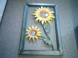 luxurious metal sunflower wall decor for metal sunflower wall art i love decor dimensional