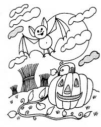Small Picture Wild pumpkin and bat coloring pages Hellokidscom