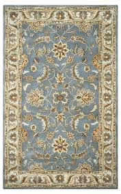 home wool rectangle area rug 3 x 5 blue brown tan light teal and rugs traditional