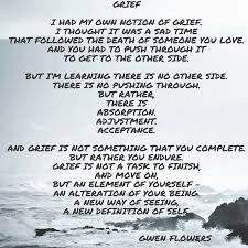 Grief By Gwen Flowers - Acknowledgements.netAcknowledgements.net