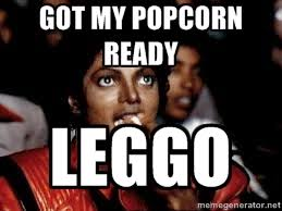 Got my popcorn ready LEGGO - Michael Jackson Popcorn eating | Meme ... via Relatably.com