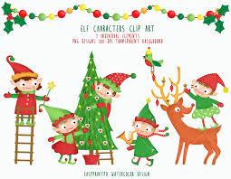 Christmas Elf Characters Clipart Winter Holiday Santa S Helpers Clip Art Instant Download Elves Graphic Elf Illustration Chrismas Art In 2020 Elf Characters Clip Art Christmas Elf