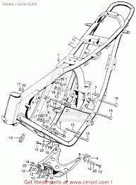 Honda sl175 motosport 1970 k0 usa frame skid plate schematic