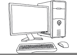 computer clipart black and white. Brilliant And Download This Image As With Computer Clipart Black And White Clker