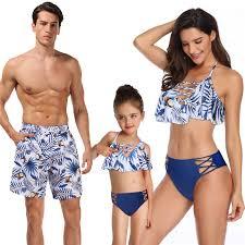 <b>Summer Family</b> Matching <b>Outfits Swimwear</b> Mother Daughter Kids ...