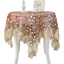 bettery home lace fl embroidery tablecloth vintage style table cover perfect for wedding party home kitchen decor round 36 inch wine red