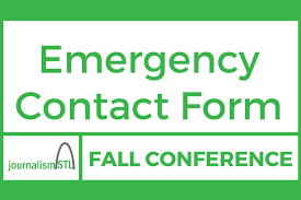 student conference form conference emergency contact form journalismstl