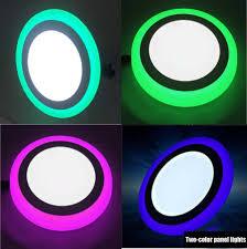 Ultra Slim Led Panel Light 6w 9w 18w 24w Round Square Dual