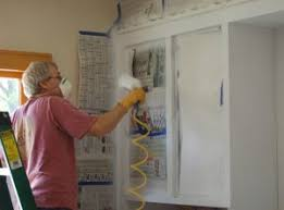 spraying cabinets with airless sprayer. There Is Considerable Measure Of Suppositions And Strategies Out For Painting The Cabinets Throughout Spraying With Airless Sprayer