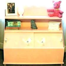 toy chest with shelves a wooden