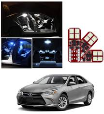 2014 Camry Led Lights Ironsky 10ps Xenon White Ice Blue Super Bright Led Light Bulbs For Toyota Camry 2014 2015 2016 2017 2018 Interior Package Kit License Plate Lamp