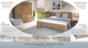 Schlafzimmer Komplett Set B Selun 4 Teilig Farbe Eiche