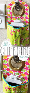 diy fabric pouch charging station