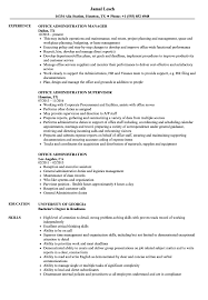 Office Assistant Duties On Resume Office Administration Resume Samples Velvet Jobs