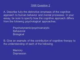 writing an essay for an a p psychology test ppt  17 1998