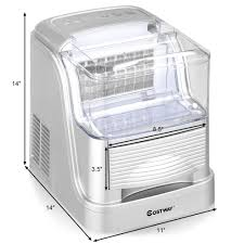 portable electric ice maker machine compact large capacity 33lb day countertop ice makers best canada