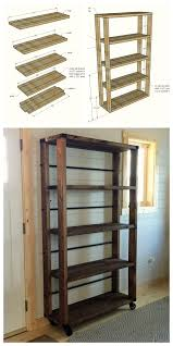 Diy Wood Projects Ana White Build A Reclaimed Wood Rolling Shelf Free And Easy