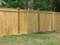 Pressure Treated Pine Privacy Fence with Trim Board