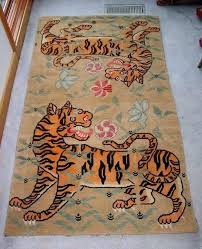 tiger rug tibetan rugs for prayer by
