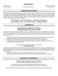 Administrative Manager Resume 16 Sample Topfinance And