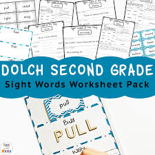 Dolch Second Grade Sight Words Fun With Mama
