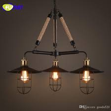 fumat loft retro chandeliers american industrial restaurant bar designer lamps living room workroom art cage light
