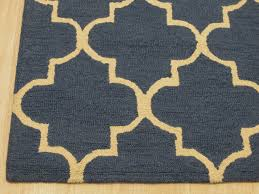hand tufted wool blue traditional trellis moroccan rug mediterranean area rugs by eorc eastern rugs