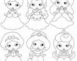 LITTLE <b>PRINCESSES Colored</b> Digital Clip Art Set -Personal and ...
