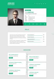 Single Page Resume 5 Html Resume Template Html Resume Template Free ...