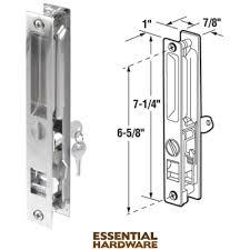 prime line prod slide co flush mount standard hook sliding patio door handle set 141975