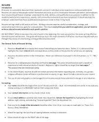 Sample Effective Resumes Sample College Resume Sample Resume Writing