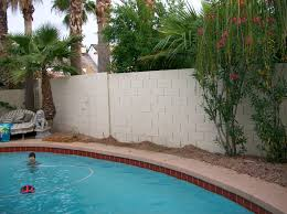 Paint Cinder Block Wall What A Little Stucco And Paint Can Do For Your Block Fence Tukee