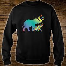 Elephant Shirt Design Autism Mom Design Autism Awareness Elephant Shirt