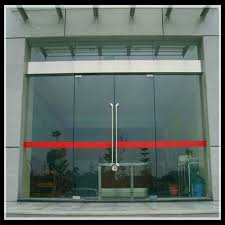 commercial building entry drive system safety sensor glass automatic sliding door