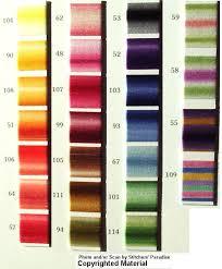 Anchor Floss Colour Chart Stitchers Paradise Color Cards