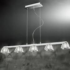 pendant bar lighting. Franklite \u0027Tableau\u0027 5 Light Chrome \u0026 Glass Pendant Ceiling Fitting - FL2302/5 Bar Lighting