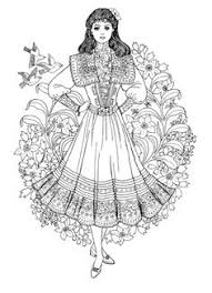 Small Picture victorian coloring pages of womens dress Ladies Victorian Dress