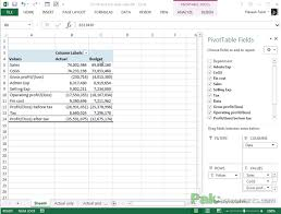 Excel Profit And Loss Template Gorgeous Budget Vs Actual Analyzing Profit And Loss Statements In Excel