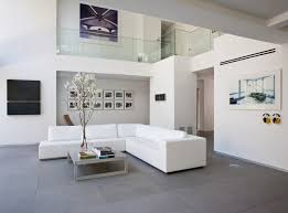 white floor tiles living room. Another Very Modern Space, These Gray Tiles Help Off-set The Stark White In This Room. Image Source: Max Strang Architecture Floor Living Room